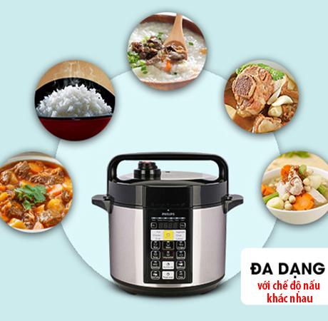 Bnạ nên lựa chọn nồi áp suất điện với đa dạng các chế độ nấu